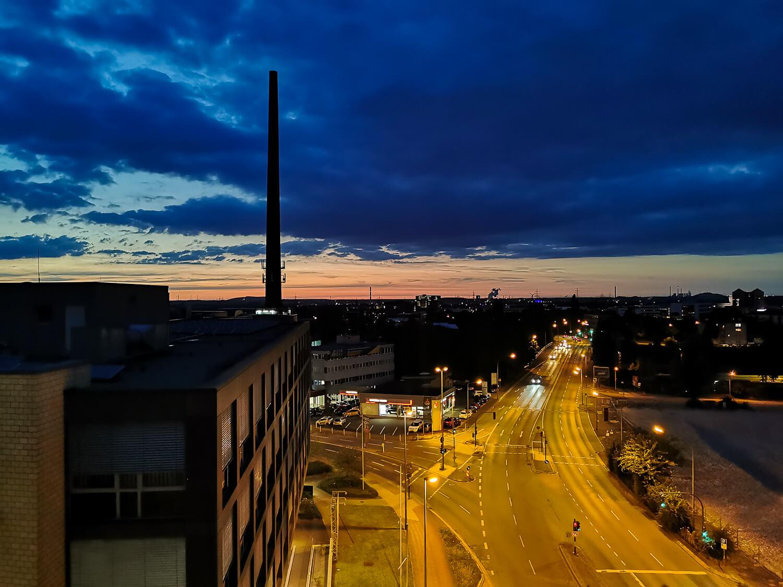 Sonnenuntergang - beobachtet aus dem Hotelzimmer