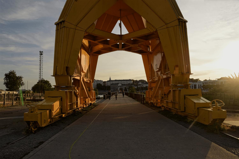 Industriekulturelles Erbe auf der Île de Nantes