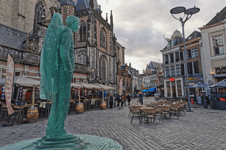 Beliebtes Fotomotiv auf dem Marktplatz von Zwolle