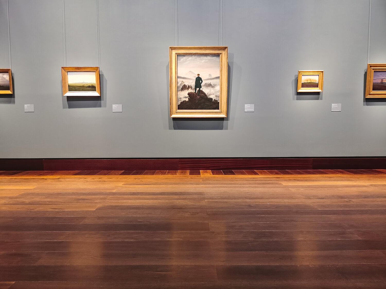 Gemälde von Caspar David Friedrich gehören auch zur ständigen Sammlung der Kunsthalle