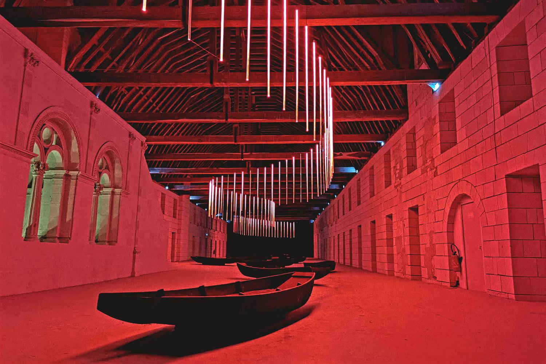 Eines der Museen in der Abtei, die auch abends für die Hotelgäste geöffnet sind.