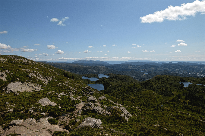 Panoramawanderung auf dem Berg Ulriken