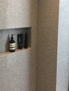 Shower toiletry wall recess