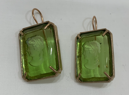 Orecchini Earring Hexagonal Green