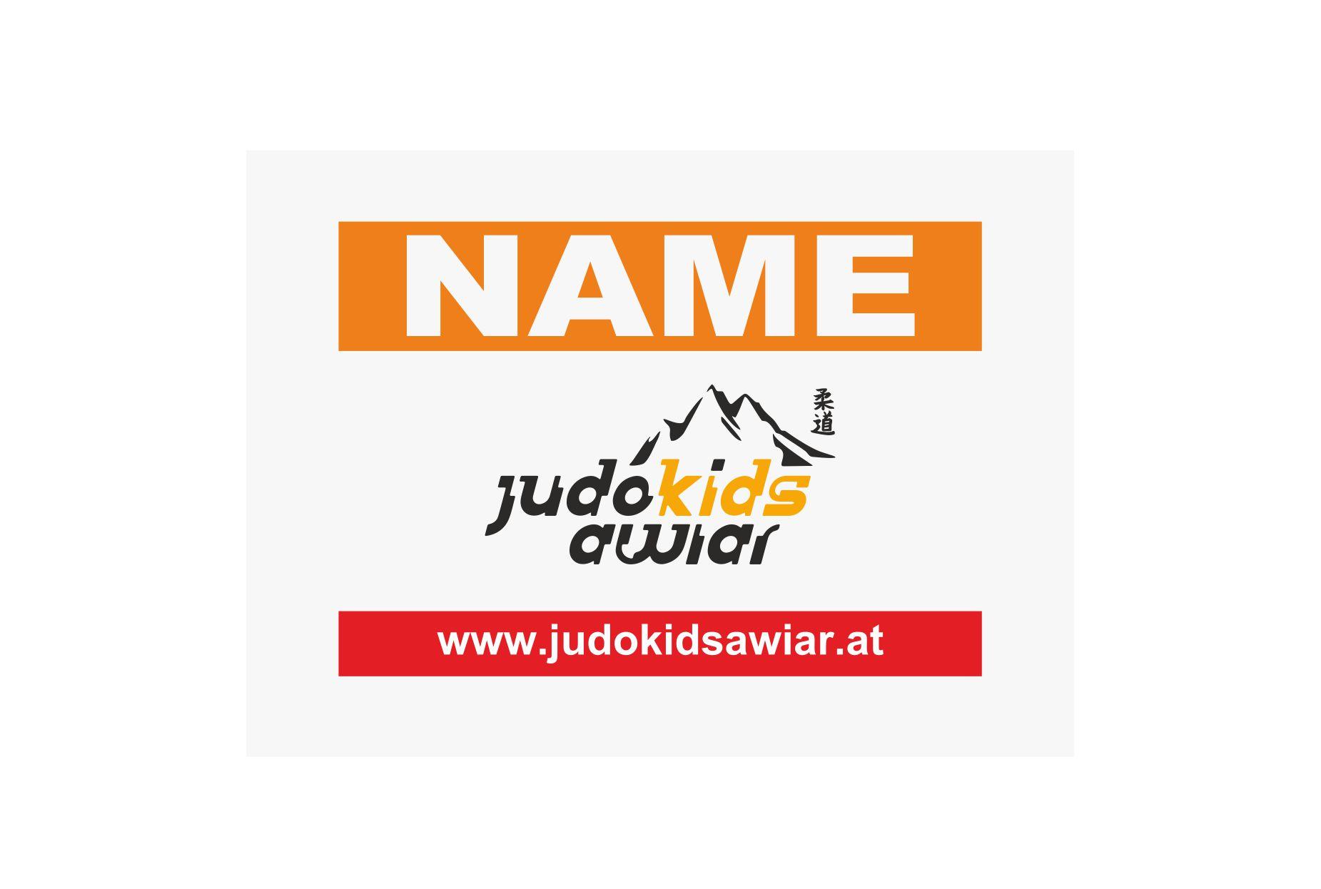 Namensschild für den Rücken des Trainings-Anzuges