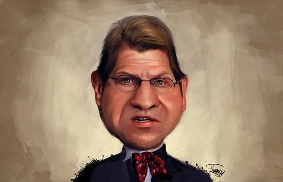Karikatur Stegner