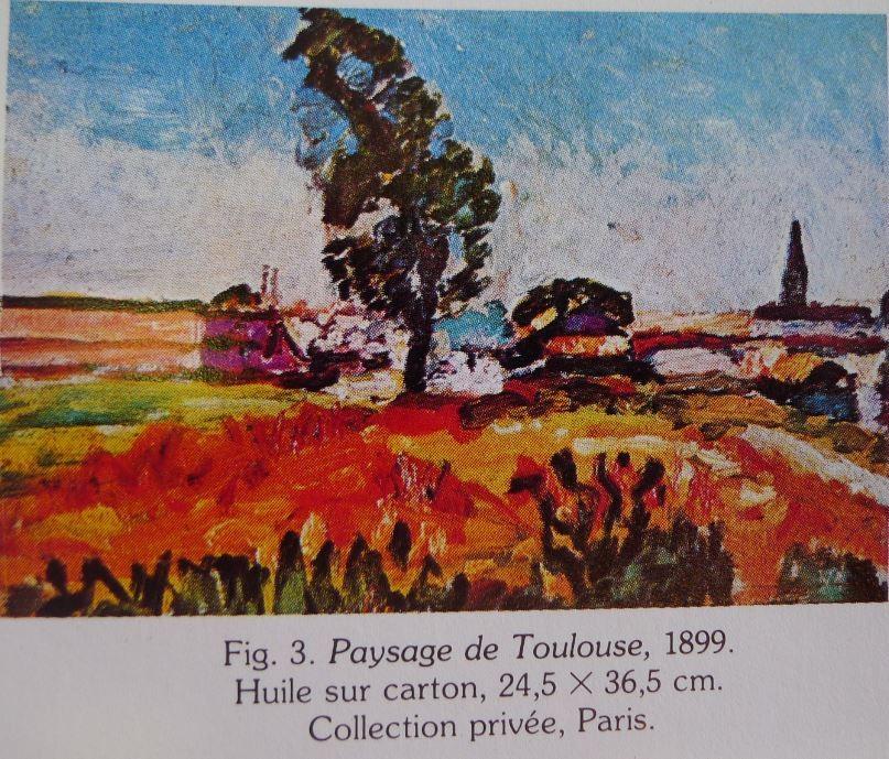 """"""" Paysage à Toulouse """" huile sur carton dimensions 24.5 X 36.5 collection privée PARIS."""