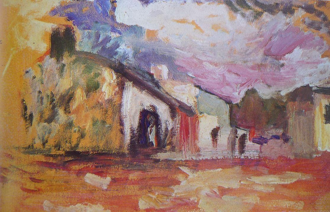 """"""" Maisons à Fenouillet """" huile sur carton dim 24.5X36.5 Musée Matisse à NICE 06."""