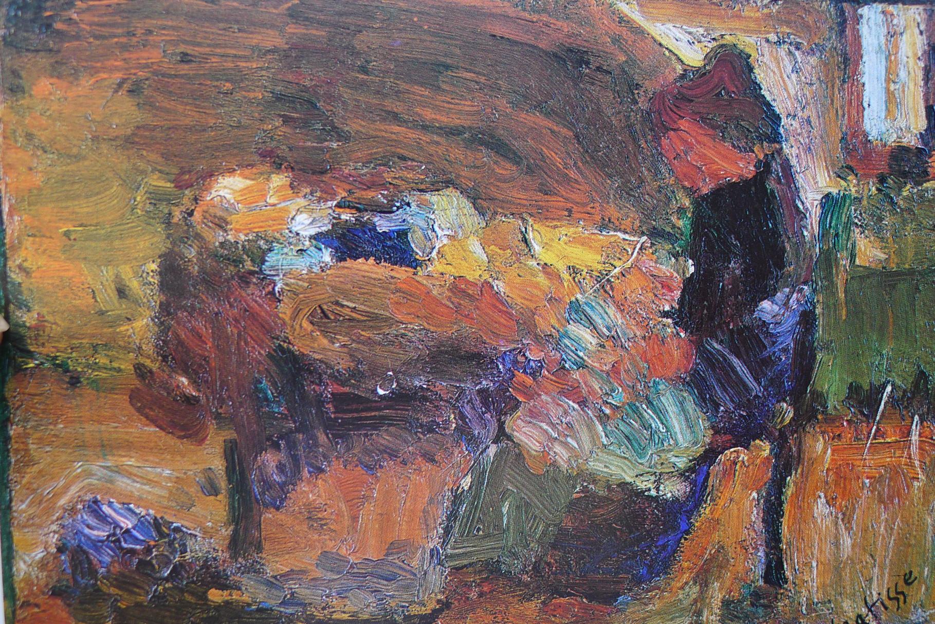 """"""" Madame Matisse et Jean au berceau """" Toulouse 1899 huile sur bois collection particulière."""
