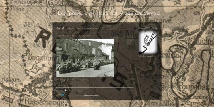 """Notre site """"Passeurs d'histoire"""""""