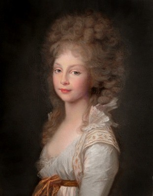 公女フリーデリーケ・フォン・プロイセン、1796年、ティシュバイン