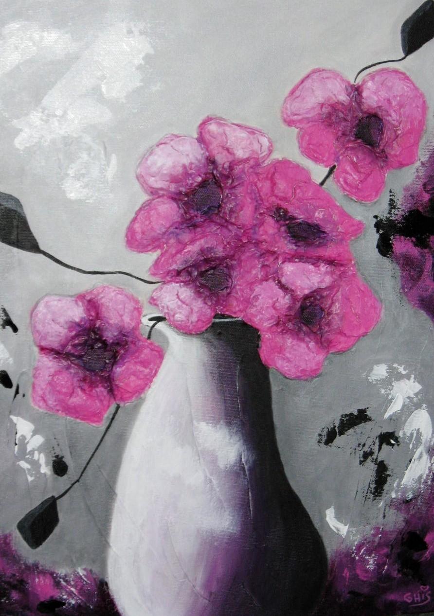La vie en rose,Grandeur:16x12,Acrylique laqué,Prix sur demande.