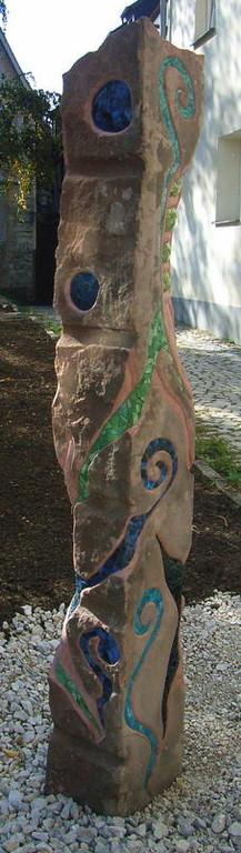 """Stele Ornamentic 2010 """"Was Neues im Graben"""" Publikumspreis 2. Platz Hersbruck, Roswitha Farnsworth"""
