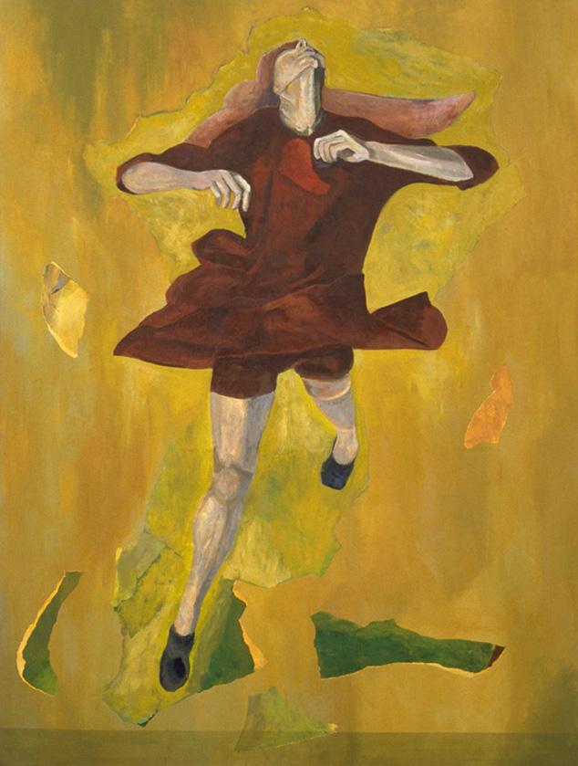 """Un souvenir pour Tiepolo - Remembering Tiepolo, 2002, 150 x 200 cm - 59"""" x 79"""",  acrylique et collage sur toile, acrylic and collage on canvas.  Photo: Éliane Excoffier"""