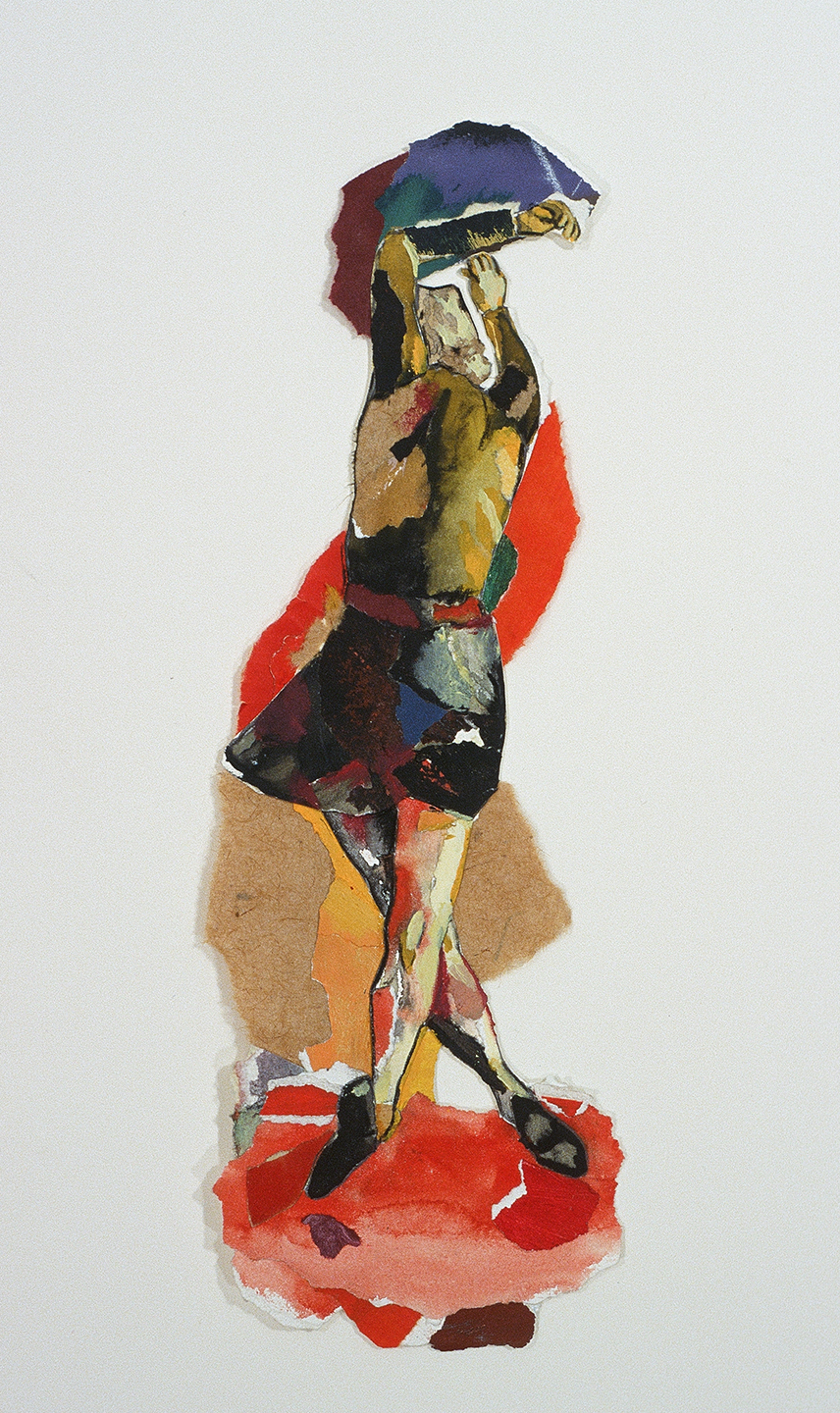 "Sans titre, 1999, 41 x 12 cm - 16"" x 5"",  techniques mixtes sur papier - mixed media on paper."