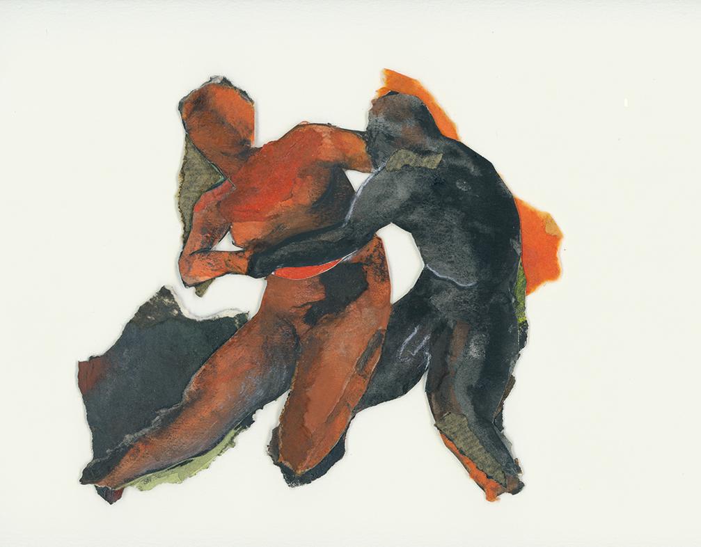 Mes ancêtres pourtant mortes muettes III, 1991, cm, techniques mixtes sur papier, Photo: Paul Litherland