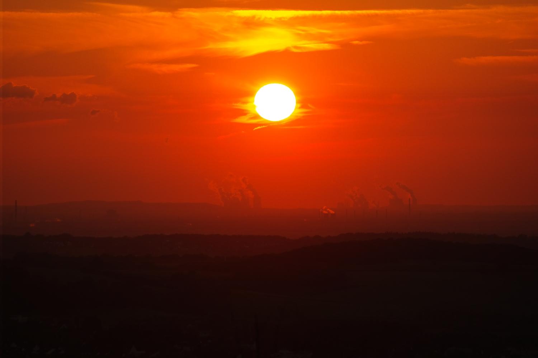 Sonnenuntergang über Wesseling