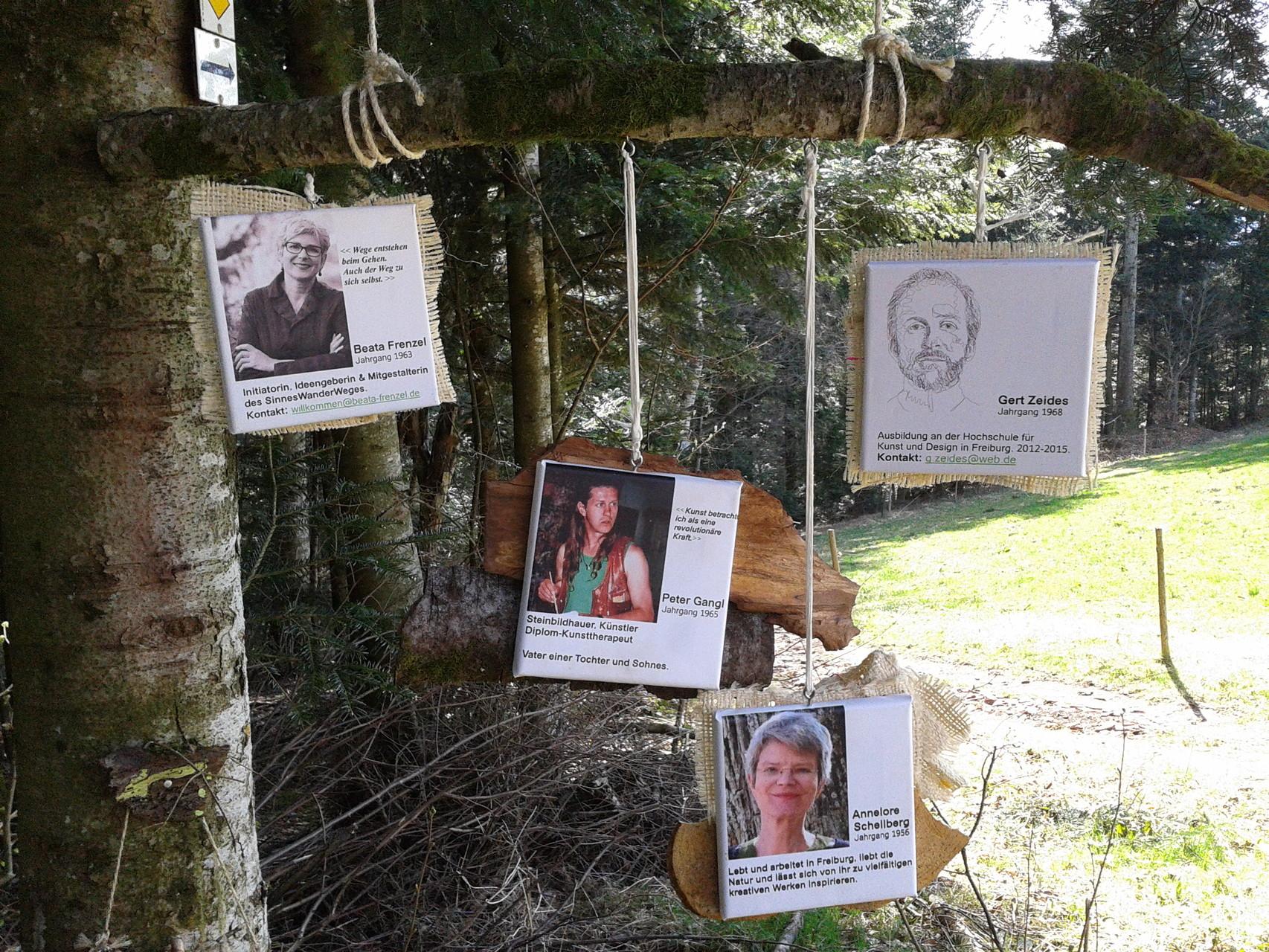 Die kreativen Köpfe: Annelore Schellberg, Peter Gangl, Gert Zeides, Beata Frenzel
