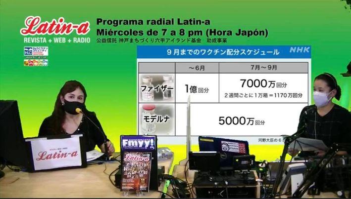 ◆◆Programa radial Latin-a: Coronavirus y la vacunación en Japón/ラジオ番組ラティーナの内容は、コロナ感染情報とワクチン情報をお伝えします◆◆