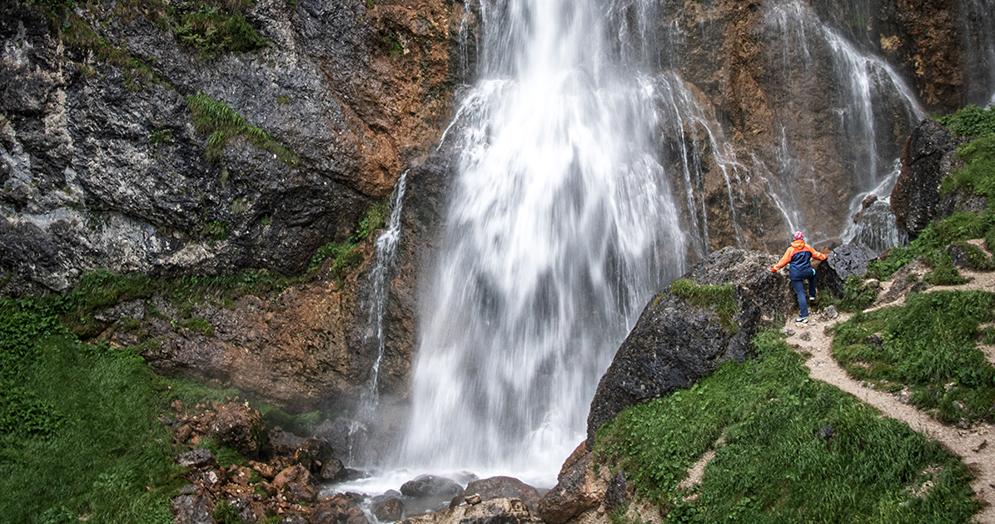 Der Dalfalzer Wasserfall, Maurach, Achensee, Tirol