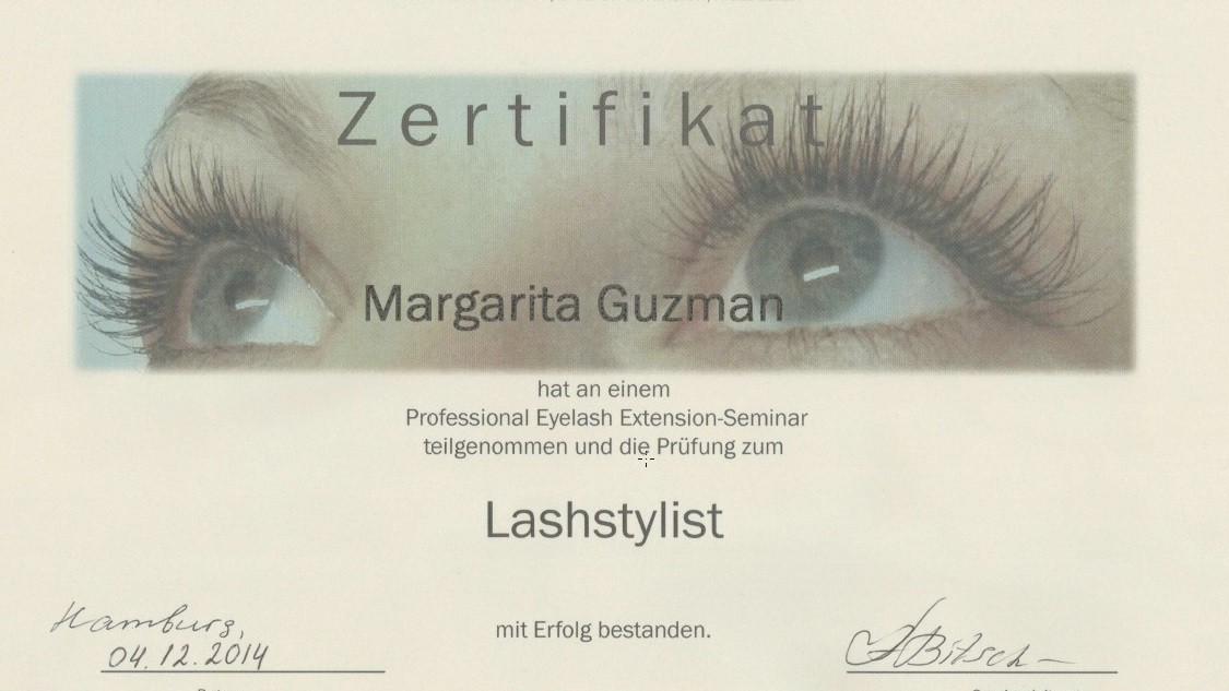 Zertifikat Lashstylistin Eilbek