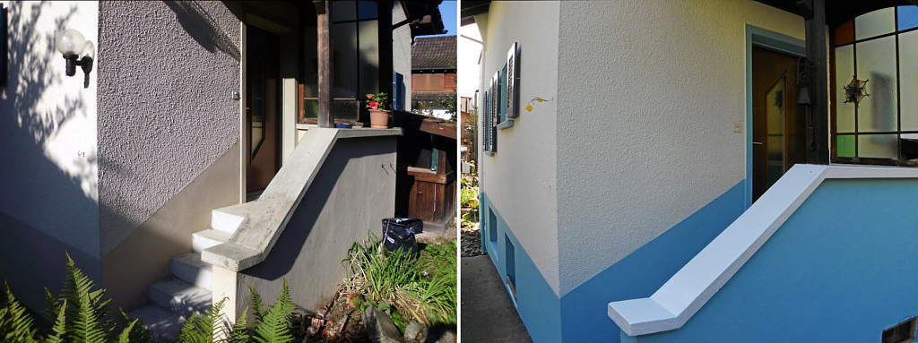 Farbanstrich für Hauseingang und Treppen