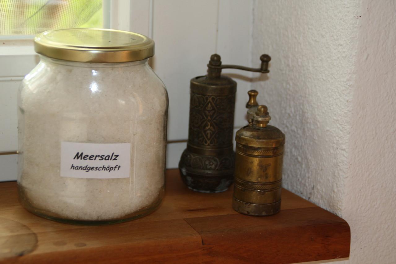 Selbst geschöpftes Salz von einem netten Nachbarn