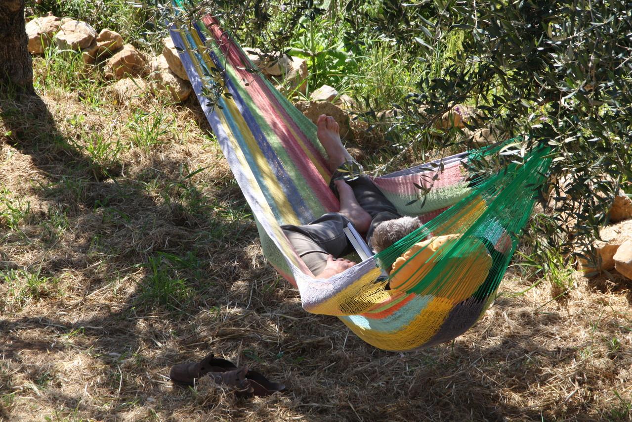 ganz entspannt im Garten