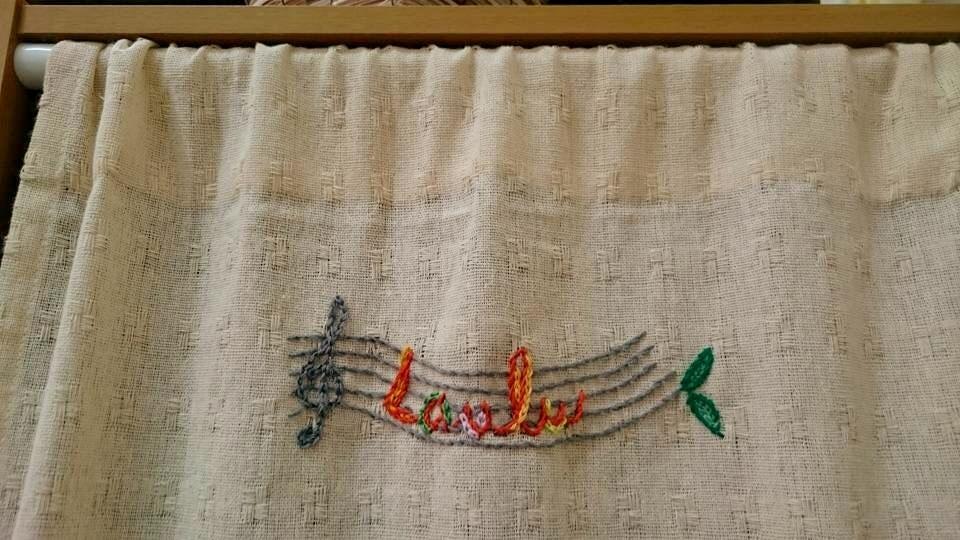 教室ロゴ刺繍