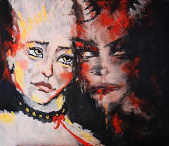 """""""Obsession"""" -  2013, Acryl auf Leinen, 60 x 40 cm, Kaufpreis 200,-"""