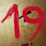 """Serie Minutes """"19"""" -  2014, Acryl auf Leinen, 40 x 50 cm, Preis auf Anfrage"""