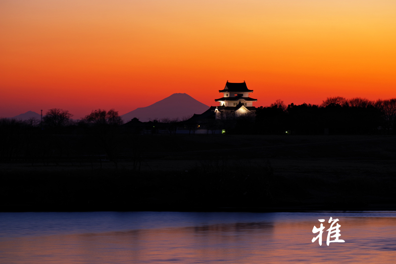 F95 夕映えの関宿城  茨城県境町にて