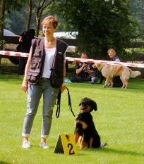 Ilona mit Baxter 09.07.2017 Haltern, Foto : Familie Langemeyer
