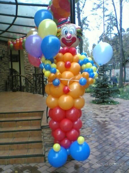 Клоун из воздуха с фольгированной головой - 1600 руб.
