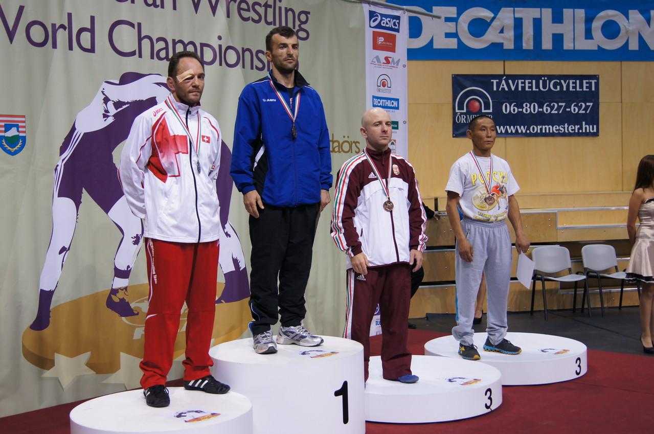 Veteranen WM in Budapest, Silbermedaille von Pascal Jungo