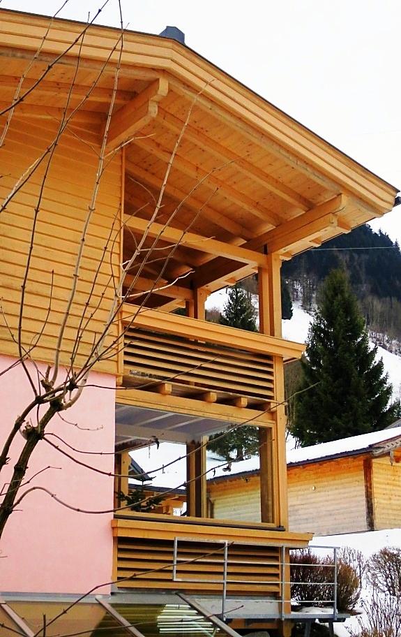 Einfamilienhaus in Bruck Detail Terrasse