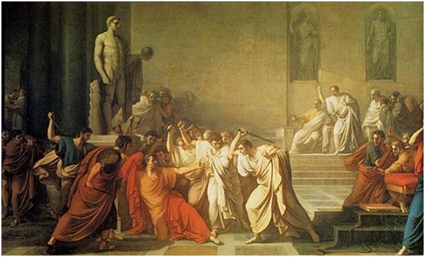 Vincenzo Camuccini, La mort de César (vers 1805), mbellevlledouelle.fr