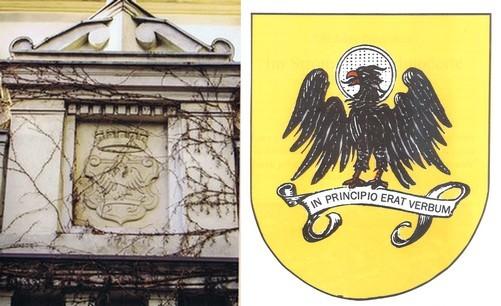 Stadtwappen in Stein am Rathaus