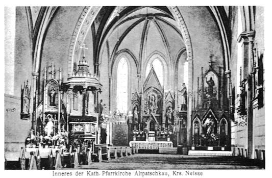 Inneres der Allerheiligen Kirche vor 1945 (RL)