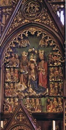 """Mittelteil des Altars, der """"Mannla Altar"""" von 1494 (HR)"""