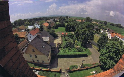 Blick von Kirchturm (Fisheye-Foto HR)