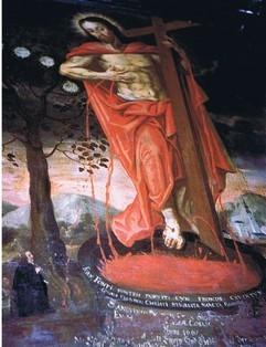 """Votivbild """"Christus auf der Kelter"""", (RL)"""