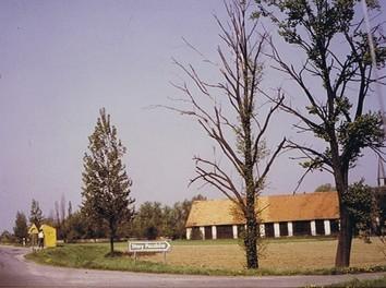Pfarrgutscheune, 01.05.1990 abgebrannt, (RL 1986)