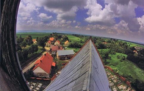 Blick vom Kirchturm auf das Oberdorf und das Phillipstal, (HR)