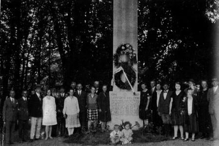 Einweihung des Kriegerdenkmals von 1914-1918 (LS)