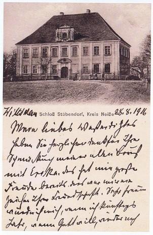 """Alte Postkarte mit dem """"Schloß""""  (HR)"""