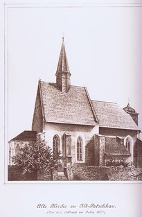 Alte Kirche vor 1890, (RL)