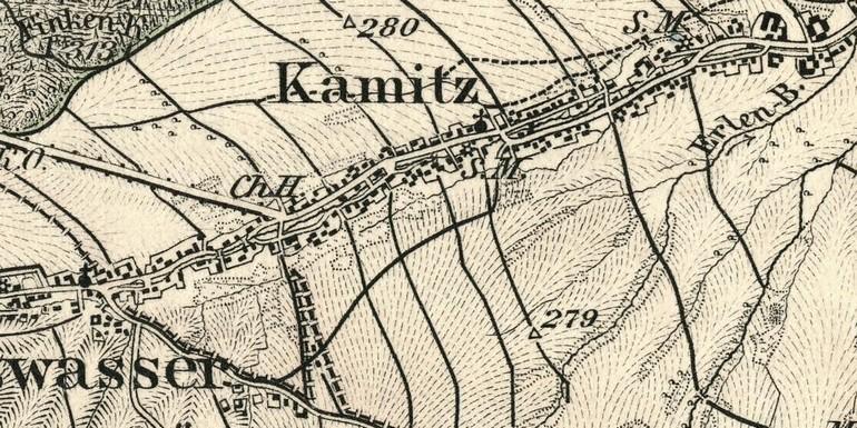 Topogr. Karte von 1896