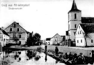Alte Postkarte: Dorfstrasse (LS)