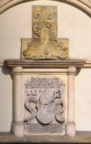 Wappen des Stifters des Rathausturmes, Bischof Baltasar von Promnitz